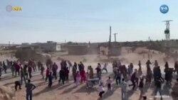 Suriyeli Kürtler Ortak Devriyeyi Protesto Etti