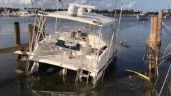 Oleaje de Irma afectó los barcos en la marina de Miami