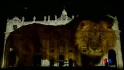 2015-12-09 美國之音視頻新聞: 梵蒂岡舉行氣候變化燈光圖像匯演