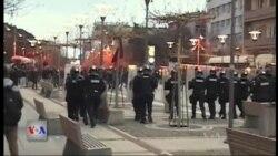 Incidente gjatë protestës në Prishtinë