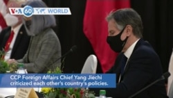 VOA60 World Addunyaa - Top US, Chinese Diplomats Clash Publicly at First Talks of Biden Presidency