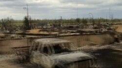 Destrucción en Fort McMurray, Canadá