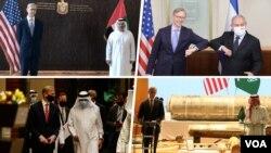 آقای هوک در این چند روز به اسرائیل، عربستان سعودی، امارات و بحرین سفر کرد