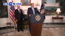 "VOA60 America- President Trump called for the nation to condemn white supremacy and stated that, ""hate has no place in America"""