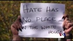 美国多个城市爆发反川普示威
