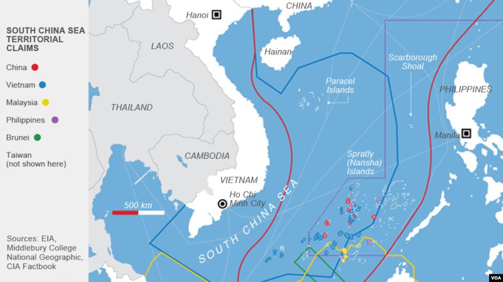 Đường chín đoạn của Trung Quốc xâm lấn sâu vào vùng đặc quyền của các nước ven Biển Đông