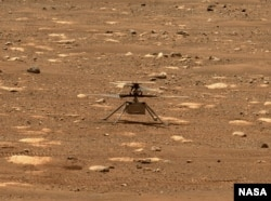 NASA's Ingenuity helicopter unlocked its rotor blades, allowing them to spin freely, on April 7, 2021, the 47th Martian day, or sol, of the mission. (Credit: NASA/JPL-Caltech/ASU)