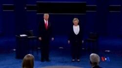 2016-10-10 美國之音視頻新聞: 川普克林頓在候選人辯論內攻擊對手人格