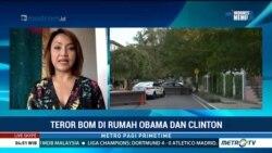 Laporan Langsung VOA untuk MetroTVPrimeTime: Teror Bom di Rumah Obama dan Clinton