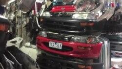 پشاور میں گاڑیوں کے فاضل پرزہ جات کی مارکیٹ