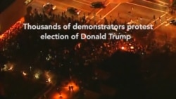 2nd Night of Anti-Trump Protests Across US