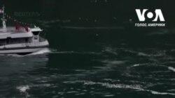 Бути на такому човні не дуже безпечно. Канадійці глузують з американців на Ніагарському водоспаді. Відео