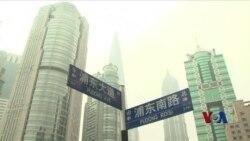 中国股市跌停板 经济放缓引起恐慌