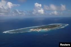 鳥瞰太平島(又被稱為伊圖阿巴島)