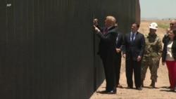 VOA英语视频: 特朗普造访选战重镇亚利桑那州谈移民议题