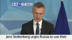 VOA60 World - NATO urges Russia to use their influence on East-Ukrainian rebels for immediate return to ceasefire