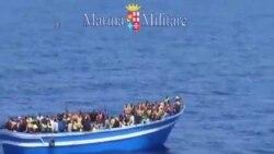 意大利和法國解救1400名地中海船民