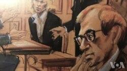 法庭画家用素描记录历史