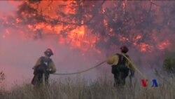 消防人员奋力拼搏 加州大火本周减弱