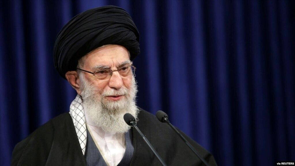 伊朗最高领导人哈梅内伊。(photo:VOA)