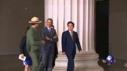 奥巴马将在白宫正式欢迎日本首相到访