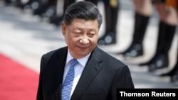 រូបឯកសារ៖ ប្រធានាធិបតីចិនលោក Xi Jinping ចូលរួមក្នុងពិធីស្វាគមន៍ប្រធានាធិបតីក្រិក Prokopis Pavlopoulos នៅទីក្រុងប៉េកាំង។