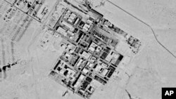This Sept. 29, 1971, spy satellite photo later declassified by the U.S. government shows what now is known as the Shimon Peres Negev Nuclear Research Center near Dimona, Israel.