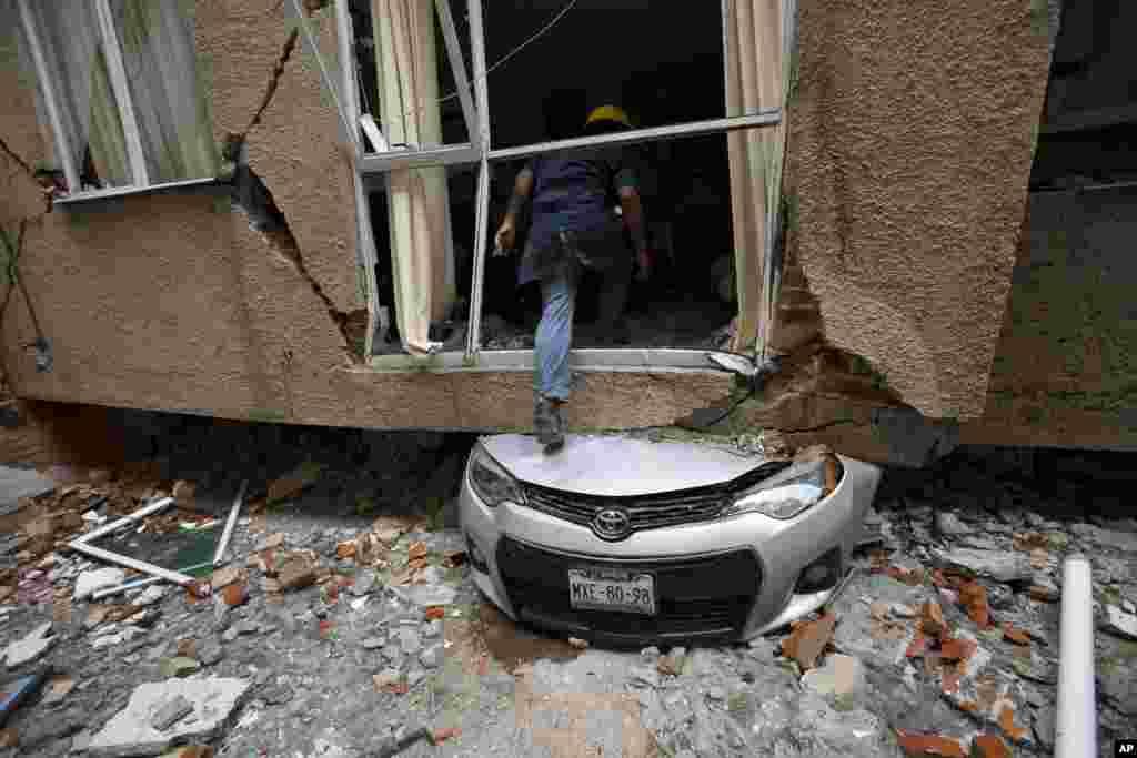 Meksika - Bir ay əvvəl baş verən zəlzələnin fəsadları qalmaqdadır