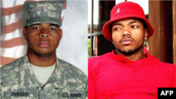 File photo (L) obtained July 8, 2016 shows Dallas sniper Micah X. Johnson. Screenshot (R) taken from his personal website shows Baton Rouge shooter Gavin Long, also known as Cosmo Setepenra.