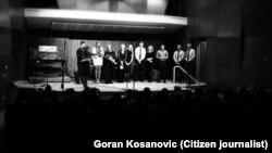 """Učesnici """"Koncerta za Kolarac"""" posle nastupa u sali Montgomeri koledža u Rokvilu, u državi Merilend"""