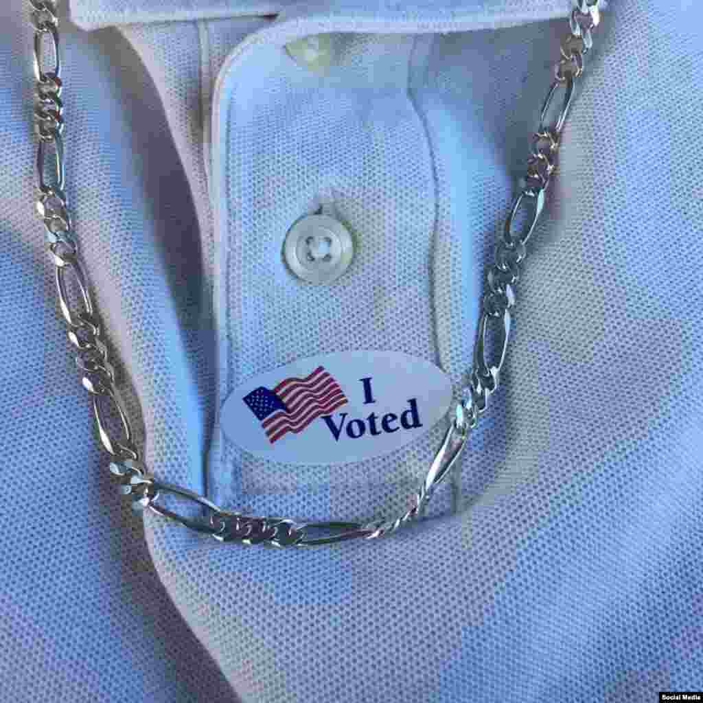 رای گیری انتخابات ریاست جمهوری آمریکا در ایالت مریلند، عکس ارسالی: Jonathan Cherry