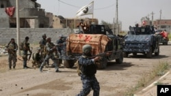 عراقی فوج کی تکریت میں پیش قدمی کا منظر