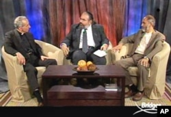 "In ""Building Bridges,"" Hirschfield's groundbreaking program on the American Muslim Television Network, the rabbi discusses urgent issues of the day with prominent Christian and Muslim clergy"