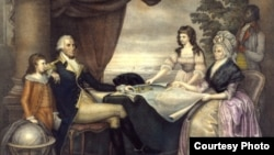 Martha and George Washington with their grandchildren (Courtesy of George Washington's Mount Vernon)