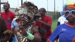 Fans and officials from DRC prepare for the Africa Cup of Nations semifinal