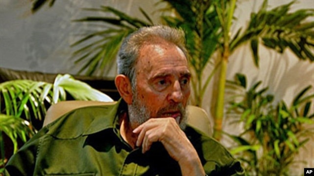 This handout picture, released by Cubadebate on 26 Jul 2010, shows Cuban leader Fidel Castro during a ceremony to pay homage to national hero Jose Marti at the Jose Marti Memorial in Havana