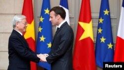 Tổng Bí thư Đảng Cộng sản Việt Nam Nguyễn Phú Trọng tại Paris.