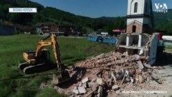 Bosna'da İzinsiz Yapılan Kilise Yıkıldı