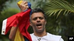 베네수엘라 야당 지도자 레오폴도 로페스 씨.