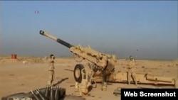 伊拉克炮兵轰击伊斯兰国目标(视频截图)