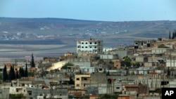 库尔德武装和伊斯兰国激进分子争夺的科巴尼城