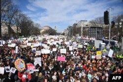 واشنگٹن میں مظاہرے کے شرکا- 24 مارچ 2018