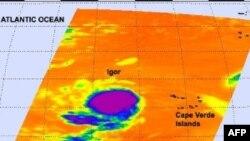 Bão Igor thành hình tại Đại Tây Dương