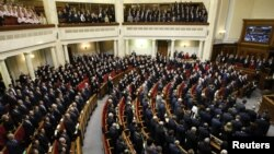Первый день заседания Верховной Рады седьмого созыва. Кинв, Украина. 12 дкабря 2012 года