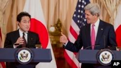 美國國務卿克里與日本外相岸田文雄舉行雙邊會談