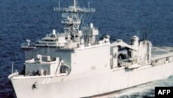 FILE - The USS Ashland, shown in an undated photo, was attacked by Somali pirates in 2010.