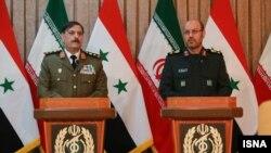 حسین دهقان وزیر دفاع ایران (راست) و همتای سوری او - آرشیو