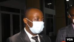 Le Dr Jerome Munyango après avoir rencontré le président Felix Tshisekedi à la cité de l'Union africaine, Kinshasa, RDC, mai 2020.
