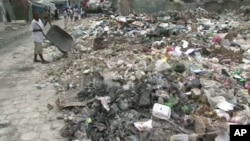 Scene of debris in Haiti one year after earthquake struck