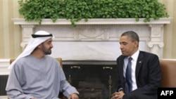 Барак Обама и шейх Мохаммед бин Зайед аль Нахьян